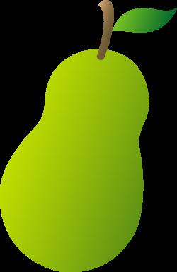Pear Cartoon Clipart