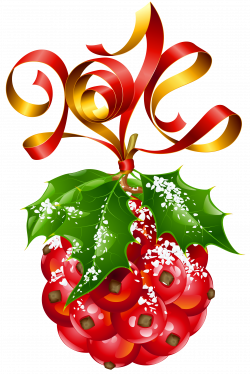 Mistletoe Christmas Ornament PNG Picture | Gallery Yopriceville ...
