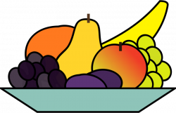 Clipart - fruit plate