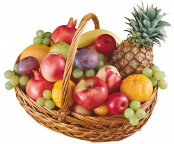 Basket with Fruits PNG Clipart - Best WEB Clipart