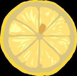 Lemon | Free Stock Photo | Illustration of a yellow lemon slice ...