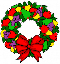 OnlineLabels Clip Art - Holiday Fruit Wreath