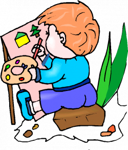 Gallery clipart paint - Pencil and in color gallery clipart paint