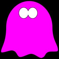Friendly Dark Pink Ghost, Wavy Base Clip Art at Clker.com - vector ...