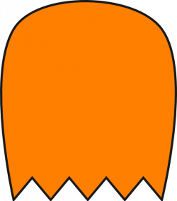 Orange Pacman Ghost Clip Art at Clker.com - vector clip art online ...