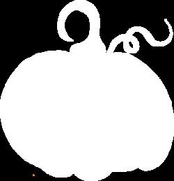 White Pumpkin Sihouette Clip Art at Clker.com - vector clip art ...