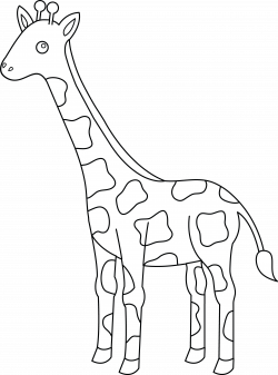 28+ Collection of Giraffe Clipart Black And White Outline | High ...