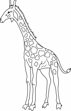 Giraffe Coloring Page - Free Clip Art
