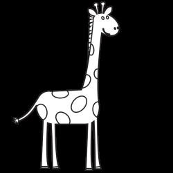 Giraffe Clipart Black and White - Clip Art Bay
