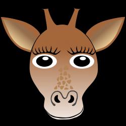 Clipart - Funny Giraffe Face Cartoon