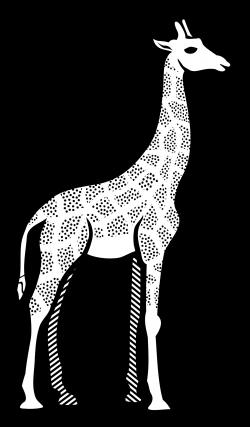 Clipart - giraffe - lineart
