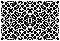 Clipart - Giraffe fur pattern (black)