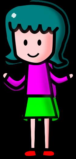 Clipart - girl