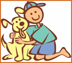 The Best Girl Hugging Dog Clipart Image For Cartoon Inspiration And ...