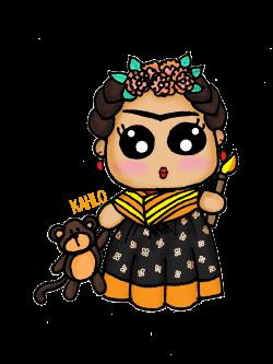 Frida Kahlo kawaii draw | figuras | Pinterest | Frida kahlo, Kawaii ...