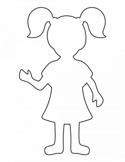 Girl pattern. Use the printable outline for crafts, creating ...