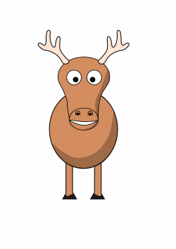 Clipart - cartoon reindeer