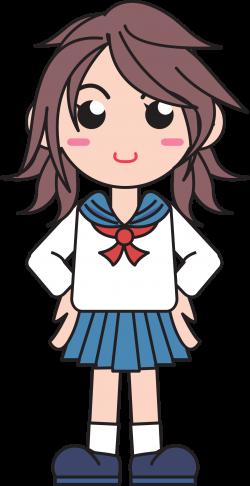 Clipart - Japanese School Girl