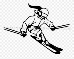 Female Skiing Production Ready - Girl Skier Clipart - Png ...