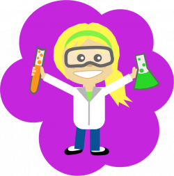 Clipart - Science Girl with Ponytail