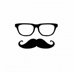Drawn glasses mustache - Pencil and in color drawn glasses mustache