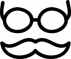 Mustache And Glasses Hand Drawn Outlines Svg Png Icon Free Download ...