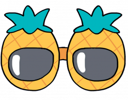 pineapple glasses sunglasses mochi kawaii cute softbot...