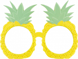 summertime pineapples glasses - Sticker by Anna