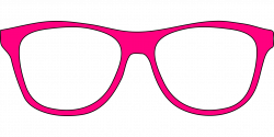 Pink Eye Glasses Template | Free Printable Papercraft Templates