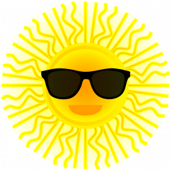 Public Domain Clip Art Image | Sun with sunglasses | ID ...