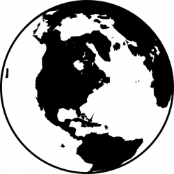 Black white globe clipart - Clipart Collection | World black and ...