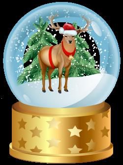 Christmas Deer Snow Globe PNG Clip Art Image | Gallery Yopriceville ...