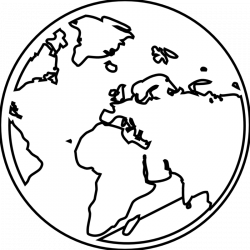 Free Globe Clipart Black And White Images Download 【2018】