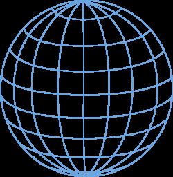 Globe Outline Clipart