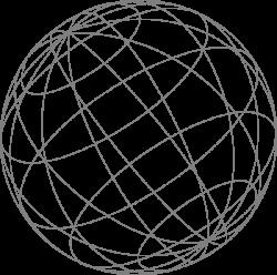 Wire Globe Gray Clip Art at Clker.com - vector clip art online ...