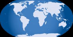 Public Domain Clip Art Image | Blue World Map | ID: 13920057012790 ...
