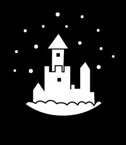 Snow Globe Silhouette - Free Clip Art