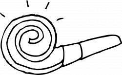 Party Blower Coloring Page - Free Clip Art