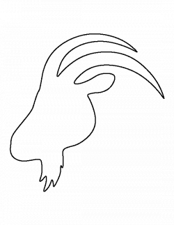 Goat head pattern. Use the printable outline for crafts, creating ...