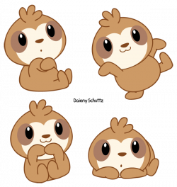Chibi Sloth by Daieny.deviantart.com on @DeviantArt   Daieny ...
