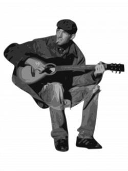 Clipart - man playing guitar