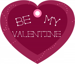 Clipart - Be My Valentine Heart Shaped Gift Tag