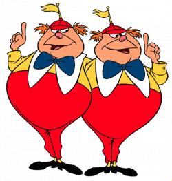 Disney Tweedledee and Tweedledum Clip Art - Alice in Wonderland at ...