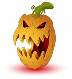 28+ Collection of Scary Halloween Pumpkin Clipart | High quality ...