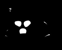 Clipart - Halloween - spooky house silhouette