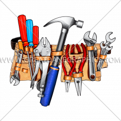 Handy Tool Belt   Production Ready Artwork for T-Shirt Printing