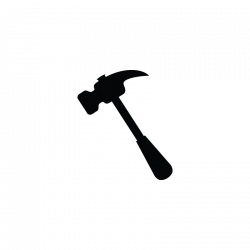 Hammer, repair tools, construction vector icon