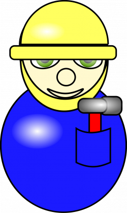 Construction #Worker #cartoon construction worker in blue overall ...