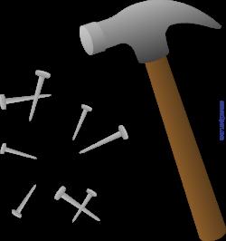 Hammer And Nails Clip Art - Sweet Clip Art