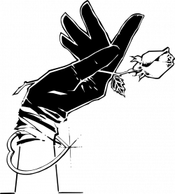 Glove | Free Stock Photo | Illustration of a hand in a black glove ...